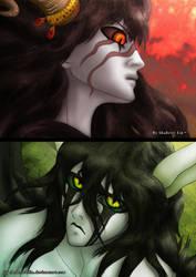 Burning rage vs  Fierce Calm by Shabriri-Lin