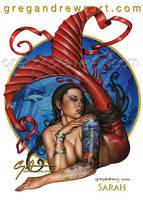 SARAH Fantasy Mermaid Pinup Art Greg Andrews Artis by badass-artist