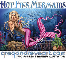 ROBIN commission fantasy mermaid by Greg Andrews by badass-artist