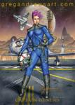 Captain Genesis Sexy Fanasy Scifi Anime Steampunk  by badass-artist