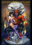 CLAIR fantasy comic pinup horror art greg andrews by badass-artist