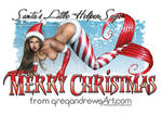 SANTA'S HELPER Christmas mermaid Greg Andrews art by badass-artist
