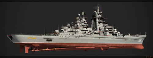 Battlecruiser Petr Velikiy rear by hora-hora
