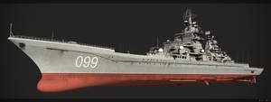 Battlecruiser Petr Velikiy front by hora-hora
