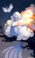Fluffy Birds by bluekomadori