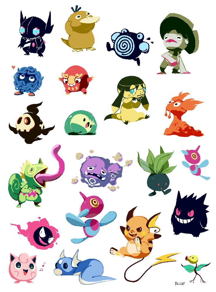 Pixel pokemon by bluekomadori
