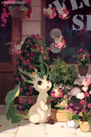 Leafeon by bluekomadori