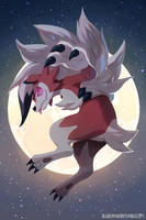 Lycanroc Midnight Form by bluekomadori