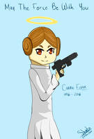 In tribute to Carrie Fisher by Shintaragi