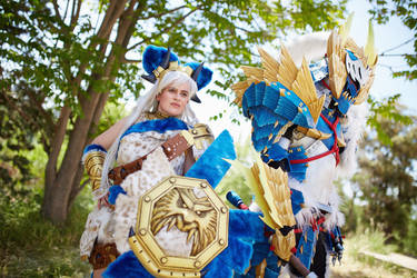Monster Hunter team: Magushia and Zinogre by Manlima
