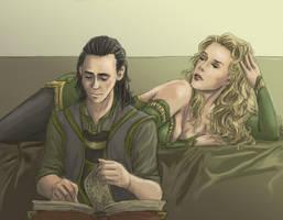 Loki and Amora by wayleri