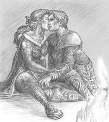 Fireside kiss by wayleri