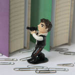 Han Solo (polymer clay figure FOR SALE) by wayleri