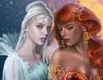 Galactea and Aidanyl by wayleri