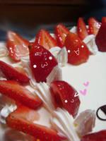 Strawberry Cake by Hikoro