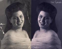 Photo Restoration: Woman by Dragellka