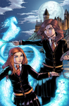 Hermione and Ginny Coloured by ColletteTurner