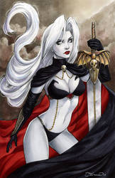Lady Death Sketch Cover by ColletteTurner