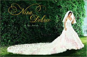 Nina Dobrev in a wedding dress by ToriaChernenko