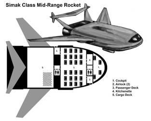 Simek Class Rocket by MythAdvocate