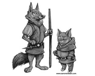 Grunter and The Pooch by MythAdvocate