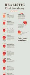 Realistic Pixel Strawberry tutorial by Kiyorin