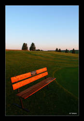 Bench at sunrise by j-sampson