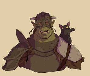 Orc And Cat by Varguy