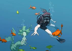A Strange Fish by Varguy