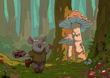 Mushroom Forest by Varguy