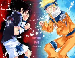 naruto_sasuke by Zuowen