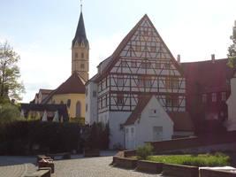 Fachwerkhaus with church by Arminius1871