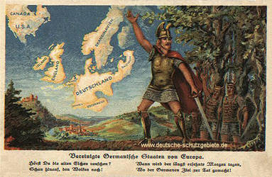 United germanic states of Europe and America by Arminius1871
