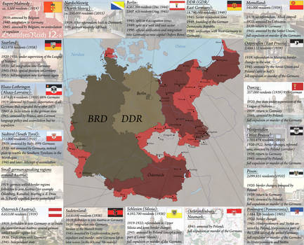 Germanys loss of territory by Arminius1871