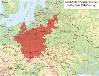 Polish settlement and presence in Europe by Arminius1871