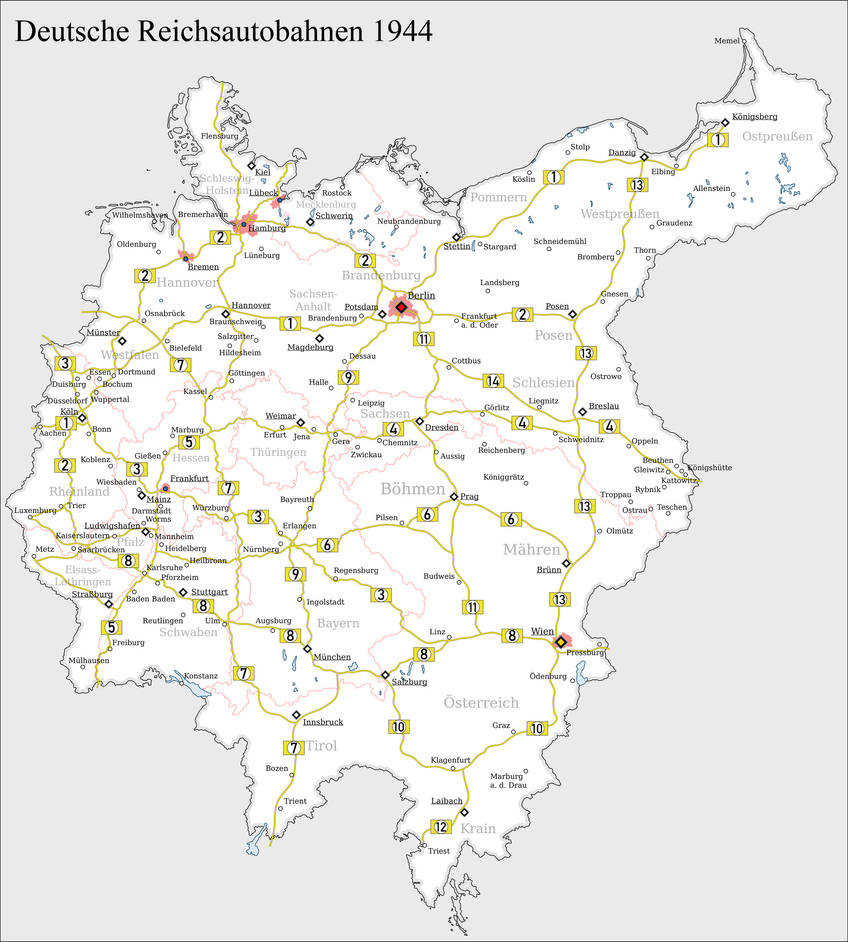 Greater Germany Autobahn Map by Arminius1871 on DeviantArt