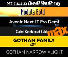 Cinemax Font History by JPReckless2444