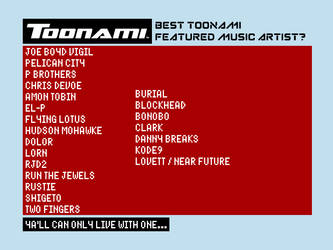 Toonami - Best Featured Music Artist? by JPReckless2444