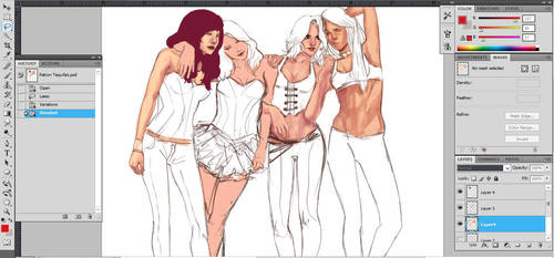 Dem ladies Wip by AnnDeeF