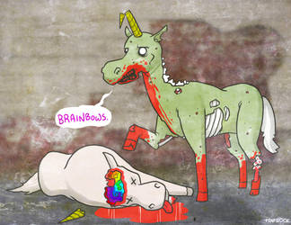 Zombie Unicorn by Finfrock