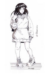 Sketch 07 Hinata by Olevelaya
