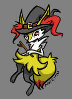 Braixen Witch by Norcinu