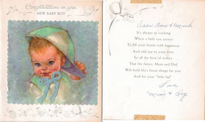 Another baby card 1958 by IdanCarre