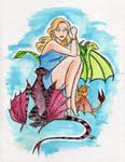 GOT Daenarys Watercolor by starlinehodge