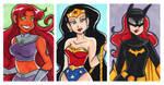 Starfire Wonder Batgirl 2x3 Set by starlinehodge