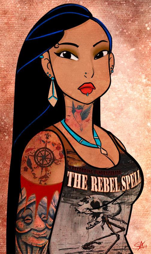 Punk Metal Pocahontas by starlinehodge