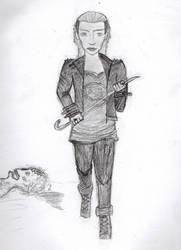Zombie Huntress by X-Red-Jazz-X
