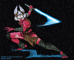Star Wars - Shaak Ti Fanart - 2009 by Mattartist25