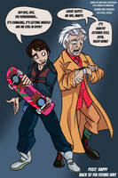 Back to the Future TODAY! - 10-21-15 by Mattartist25