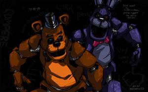FNAF - Happy Halloween 2018 - 10-31-18 by Mattartist25